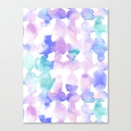 Dye Ovals Pink Turquoise Canvas Print