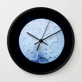 watery moon Wall Clock