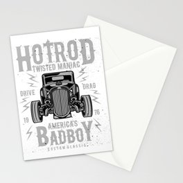 Hod Rod Twisted Maniac America's Bad Boy Stationery Cards