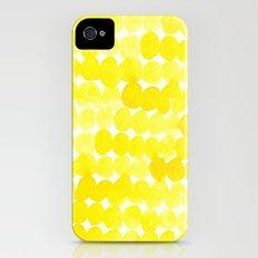 yellow//dots Slim Case iPhone (4, 4s)