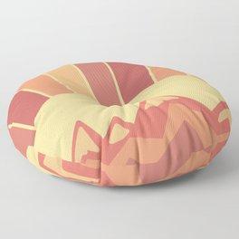 Golden Sunset Mountain Art Floor Pillow
