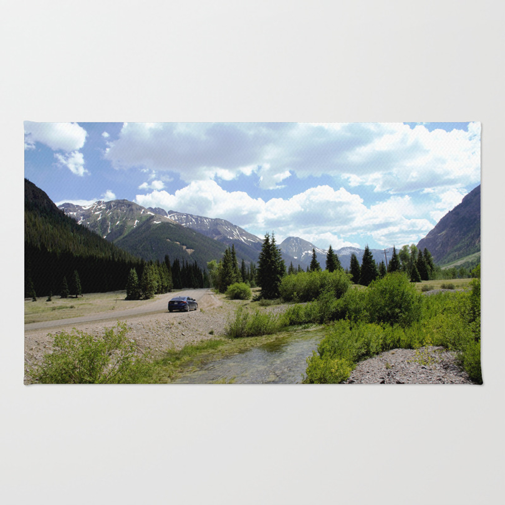 Following The Upper Animas River On The Alpine Loo… Rug by Garydcourtney RUG8334654