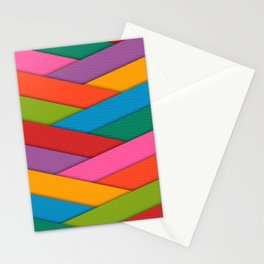 Abstract Colorful Decorative 3D Striped Pattern Stationery Cards