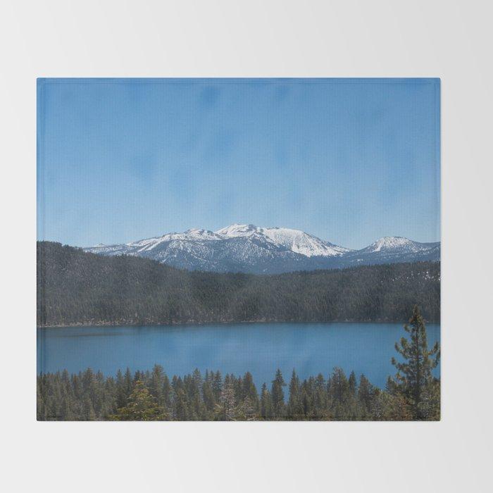 Carson Range Photography Print Throw Blanket