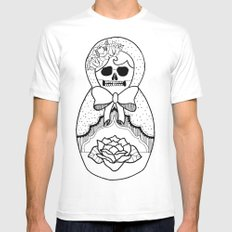 Nesting Doll Mens Fitted Tee White SMALL