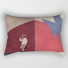 The White Hat Texan - Texas Mural - Better Call Saul Rectangular Pillow