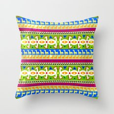 African Unicorn pattern Throw Pillow