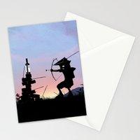 Green Arrow Kid Stationery Cards