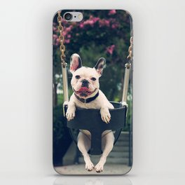 Frenchie Swings iPhone Skin