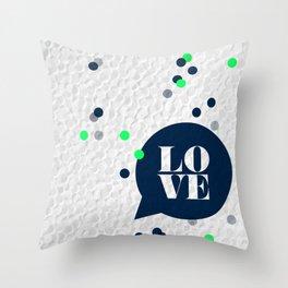 LoveConfetti Throw Pillow