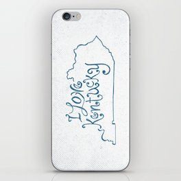I Love Kentucky in Blue iPhone Skin