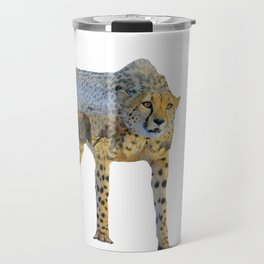 Cheetah Double Exposure Travel Mug