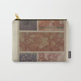 Verneuil - Japanese paper and fabric designs (1913) - 80: Paulownia; squash; leaves & fruit Carry-All Pouch