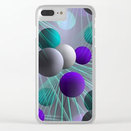 crazy lines and balls -2- Clear iPhone Case