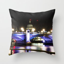 St pauls at night. Throw Pillow