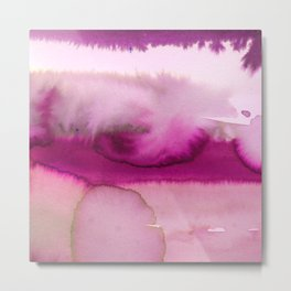 Blush pink lavender abstract watercolor paint Metal Print