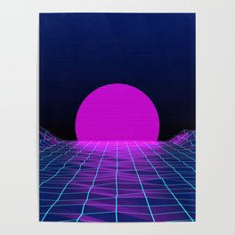 80's moon Poster
