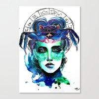 cancer Canvas Prints featuring Cancer by Gabi Xavier