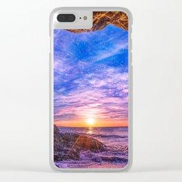 Beach Cave in Malibu Clear iPhone Case