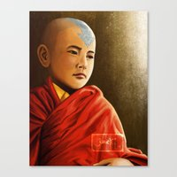 aang Canvas Prints featuring Avatar Aang by Jamie Williams
