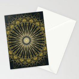 Gold Lines Stationery Cards
