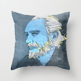 CHARLES BUKOWSKI, AMERICAN WRITER AND BARFLY Throw Pillow
