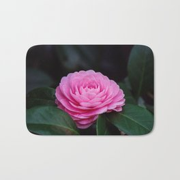 Pink Perfection Camellia Japonica is Blooming Bath Mat