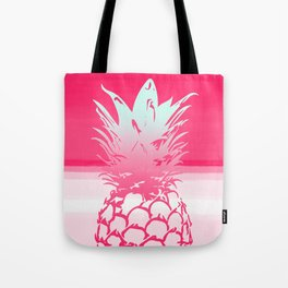 Pink Pineapple Tropical Beach Design Tote Bag