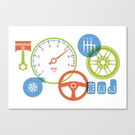 Poster for kids who love cars Canvas Print