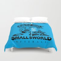 biggie smalls Duvet Covers featuring Smalls World After All (Biggie Lives On) by dylated
