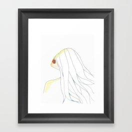 Sun Sheet (Illustration) Framed Art Print