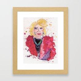 Joan Rivers Framed Art Print