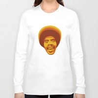 70s Long Sleeve T-shirts featuring 70s style Disco Afro by D-fens