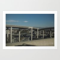 Highways in Los Angeles Art Print