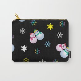 Snowflakes & Pair Snowman_E Carry-All Pouch