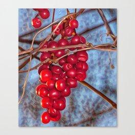 Grapes Schisandra autumn Canvas Print