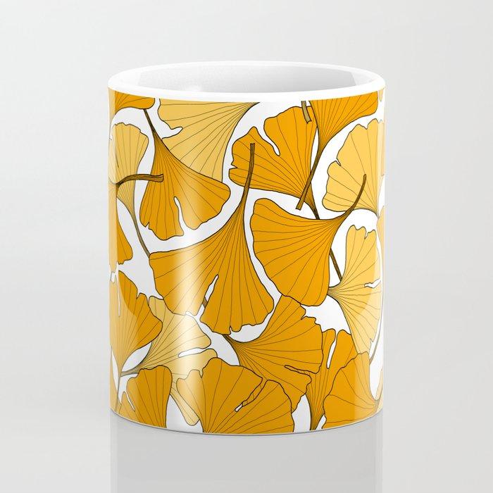 ginkgo leaves (orange) Coffee Mug