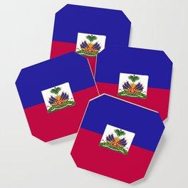 Haiti flag emblem Coaster