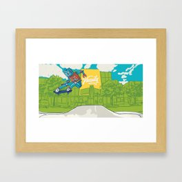 Robot Silas Framed Art Print