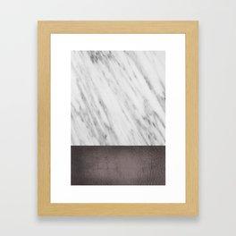 Manly Carrara Italian Marble Framed Art Print