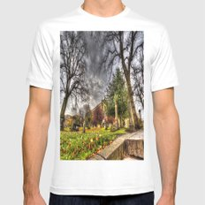 Greyfriars Kirk Church Edinburgh MEDIUM White Mens Fitted Tee