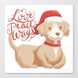 Love Peace Wags Canvas Print
