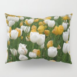 Popcorn Garden of Yellow and White Tulips Pillow Sham