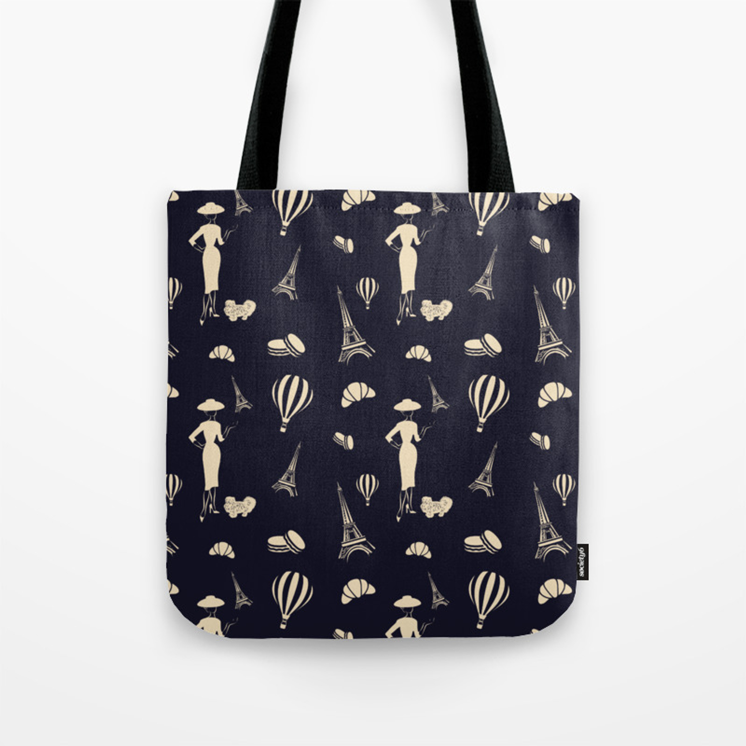 coupon codes to buy how to buy The 1950s New Look Paris Pattern Tote Bag