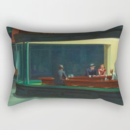 NIGHTHAWKS - EDWARD HOPPER Rectangular Pillow