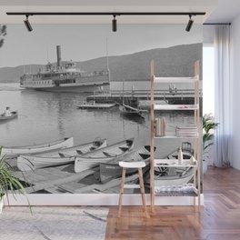 The Sagamore Lands at Roger's Slide Boathouse Wall Mural