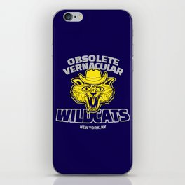 Obsolete Vernacular Wildcats (Royal Tenenbaums) iPhone Skin
