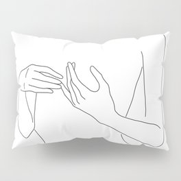 Line Hands 2 Pillow Sham