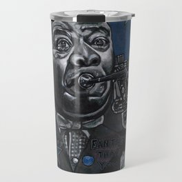 Louis Armstrong in Blue Travel Mug