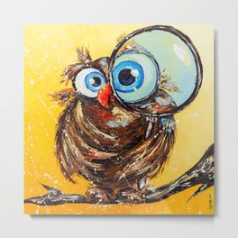 Inquisitive bird Metal Print